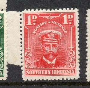 Southern Rhodesia 1924 Early Issue Fine Mint Hinged 1d. 303082
