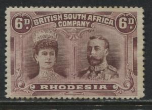 Rhodesia KGV 1905 Double Heads 6d mint o.g.