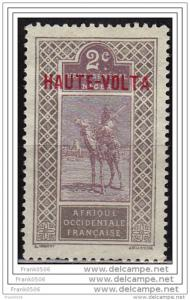 Haute-Volta 1920, Overprinted HAUTE-VOLTA in Red, 2c, Scott#2, MNG