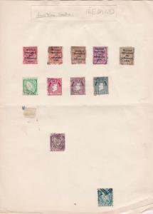 Ireland Old Stamp Album Page Ref 31337