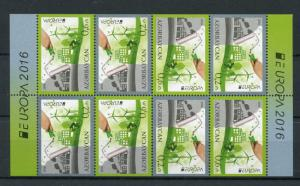 Azerbaijan 2016 MNH Think Green Europa 8v Booklet Windmills Bicycles Stamps