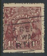 Australia SG 59  Dp Red Brown poor centering see details