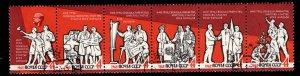 Russia Scott 2793-2798a Peace  Labor Liberty Equality. Proclamation strip CTO