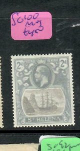 ST HELENA  (PP1305B)  KGV   2D  SHIP  SG 100   MOG