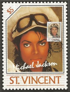 ST VINCENT STAMP,1985 MICHAEL JACKSON $5 STAMP.FIRST DAY OF ISSUE.MAXI CARD