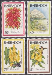 Barbados Sc #636-639 MH; Mi #613-616