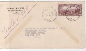 republic of haiti 1940 air mail  stamps cover ref r14888