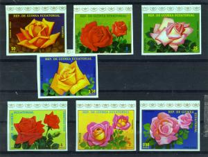 Equatorial Guinea 1979 Blumen Roses (7v) Imperforated Mint (NH)