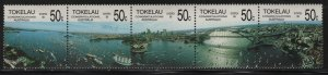 Tokelau  150, STRIP OF 5, HINGED, 1988 Australia bicentennial