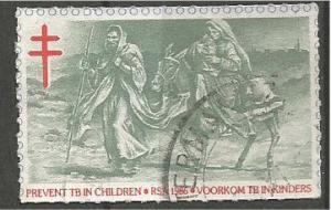 SOUTH AFRICA, 1986, used Christmas, Red Cross Scott Cinderella
