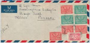 SAUDI ARABIA -  POSTAL HISTORY - AIRMAIL COVER to ITALY 1951