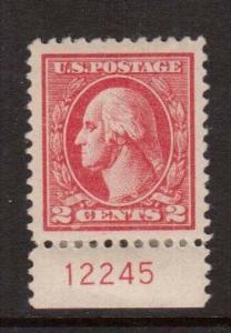 USA #528b XF Mint Jumbo Plate Single