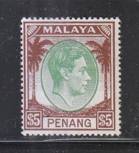 Malaya Penang 1949 Sc 22 $5 MLH
