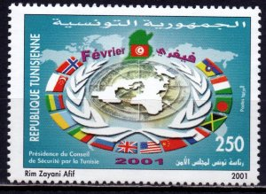 Tunisia. 2001. 1480. NATO and the Security Council. MNH.
