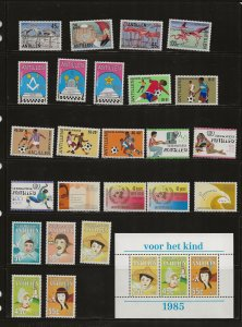 Nether. Antilles 198y  issues  MNH-MH