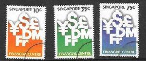SINGAPORE SG396/8 1981 MONETARY AUTHORITY FINE USED