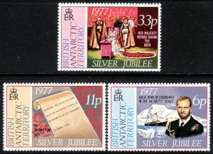 1977 BAT British Antarctic Silver Jubilee set MNH Sc# 68 / 70 CV $3.30