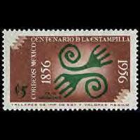 MEXICO 1956 - Scott# 891 Stamp Cent. 5c NH