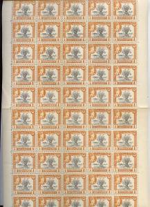 Bahawalpur 1949 S Jubilee of Accession 1/2a (Wheat) compl...