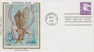 1980 Eagle B Sheet Stamp (Scott 1818) - Colorano Cachets