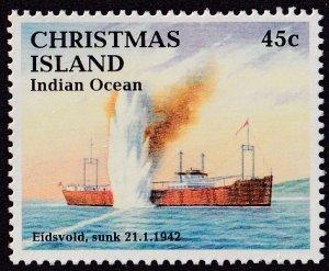 Christmas Island #343 Mint