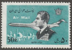 Persian stamp, Scott# C-96 mint hinged, Air mail/post stamp, plane,  V-56