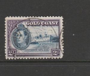 Gold Coast 1938 2/- Used P11.5 x 12 SG 130a