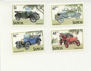 1985 Samoa Vintage Cars (Scott 641-44) MNH