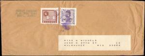KOREA 1960's MULTI STAMP TO UNITED STATES