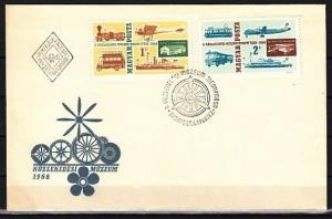 Hungary, Scott cat. 1752-1753. Transport Museum issue. First day cover.