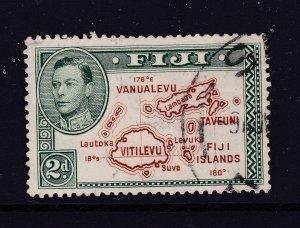 Fiji a used KGVI 2d Die 2