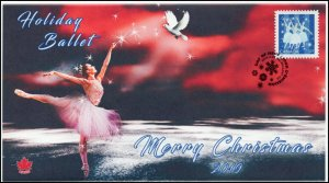 CA19-050, 2019, Christmas, Pictorial Postmark, First Day Cover, Holiday Ballet