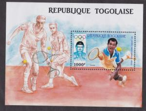 Togo # 1443, Seoul Olympics - Tennis, Hinged, 1/3 Cat.