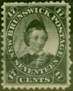 New Brunswick 1860 17c Black SG19 Fine Used