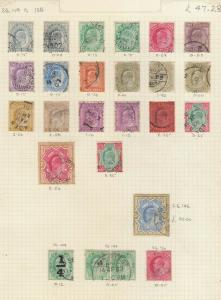 INDIA 1902-11 SET EDWARD 7TH USED. VALUES TO 15 RUPEES.