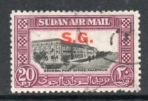 South Sudan 1950 KGVI OFFICIAL 20P AIR SG O66 used