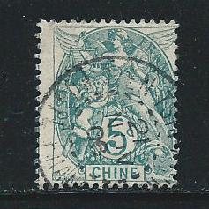 French Offices in China 34 1902-3 5c Liberty single Used