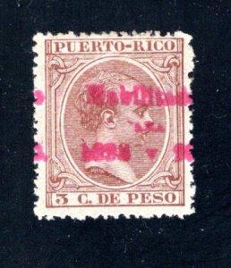Puerto Rico #161,  F/VF,  Mint Unused,   CV $4.00 ....5180070