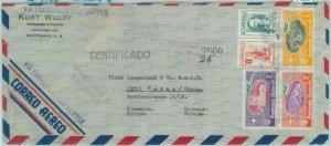 84286  - GUATEMALA  - Postal History -  REGISTERED COVER  1956 Football MEDICINE