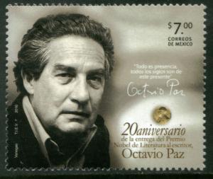 MEXICO 2723, Octavio Paz, 25th Anniv of his Nobel Prize. MINT, NH. VF.