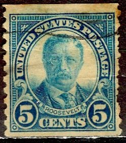 U.S.A.; 1924; Sc. # 602; O/Used  Perf. 10 Vert. Single Stamp