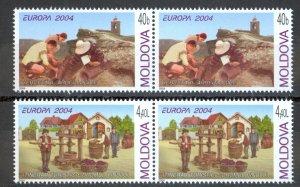 Moldova Sc# 467-468 MNH Pair 2004 Europa
