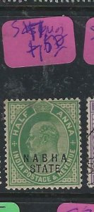 INDIA  NABHA (PP2807B)   KE  1/2A  P&R  SG 47  MOG