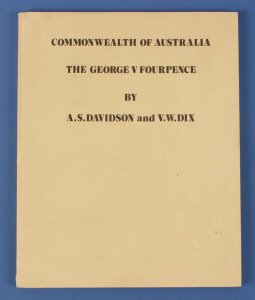AUSTRALIA : KGV Fourpence by Davidson & Wix.
