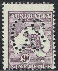 AUSTRALIA 1913 KANGAROO LARGE OS 9D
