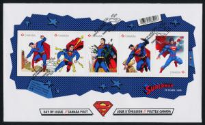 Canada 2677 on FDC - Superman, Cartoons