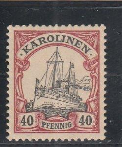 Caroline Islands  Scott#  13  MH  (1901 Kaiser's Yacht)
