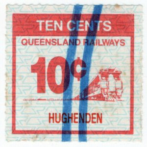 (I.B) Australia - Queensland Railways : Parcel Stamp 10c (Hughenden)