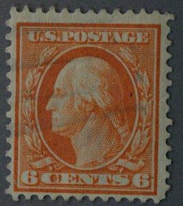 United States #336 6 Cent Washington Pale Red Orange Used