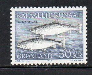 Greenland 141 1983 50kr salmon stamp mint NH